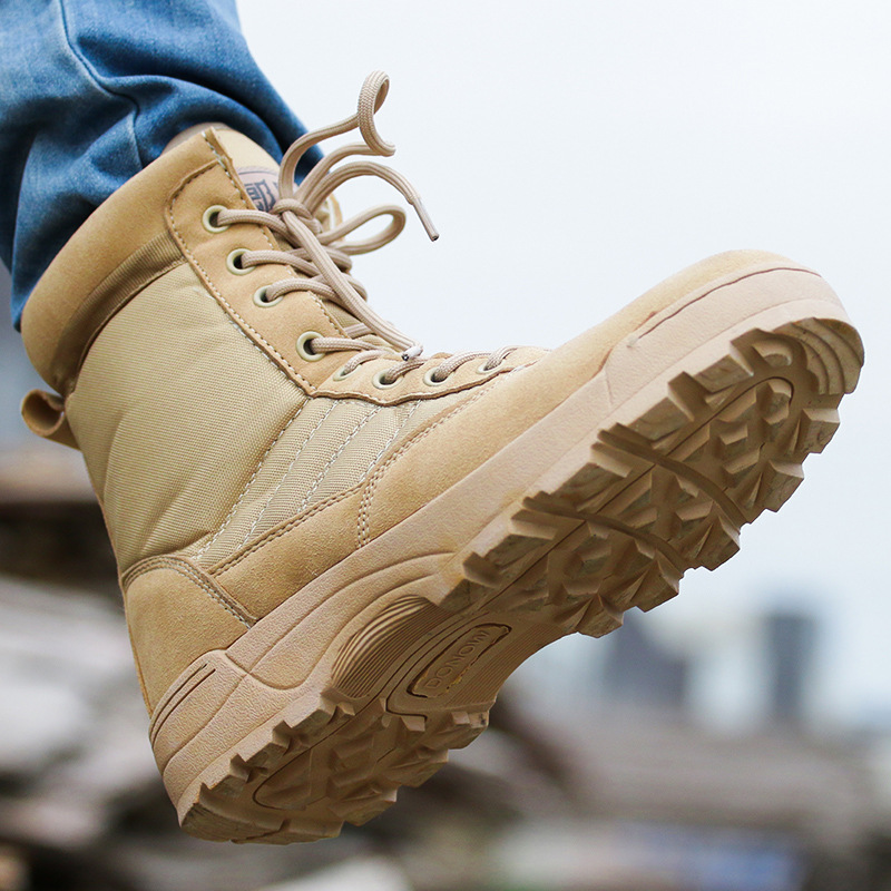 Men Desert Military Boots Male Winter Tactical Snow Ankle Boots army Combat Lace Up Outdoor safety Shoes Work Botas motocycle