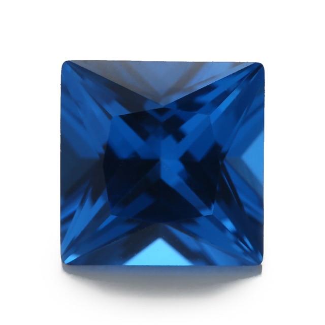 Фото размер 3x3 мм ~ 10x10 синяя квадратная форма фотоэлемент украшений