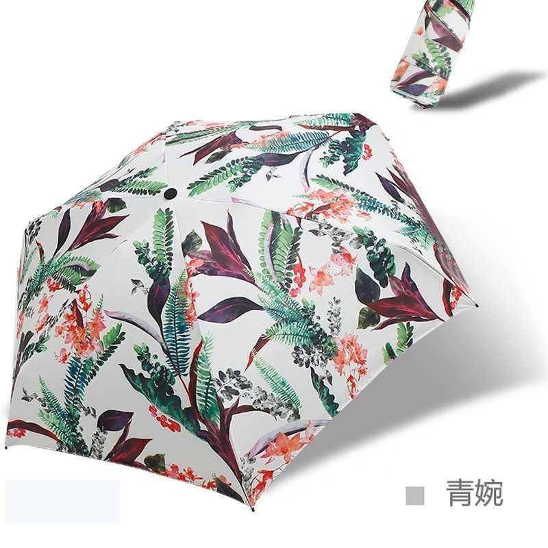 Цветок Мини мультфильм женский зонт складной прозрачный зонтик Солнцезащитный УФ козырек свет Солнце детский зонт дождь в подарок идеи оптом