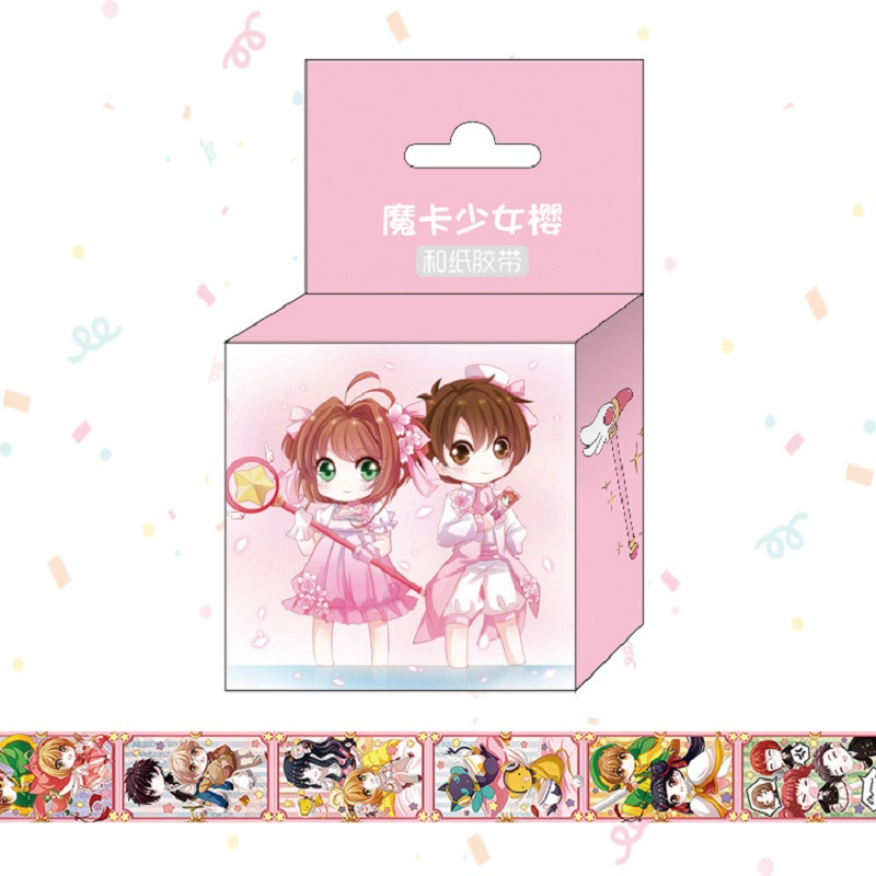 1.5cm*5m Anime Card Captor Sakura Cartoon Washi Tape Adhesive Tape DIY Scrapbooking Sticker Label Masking Tape
