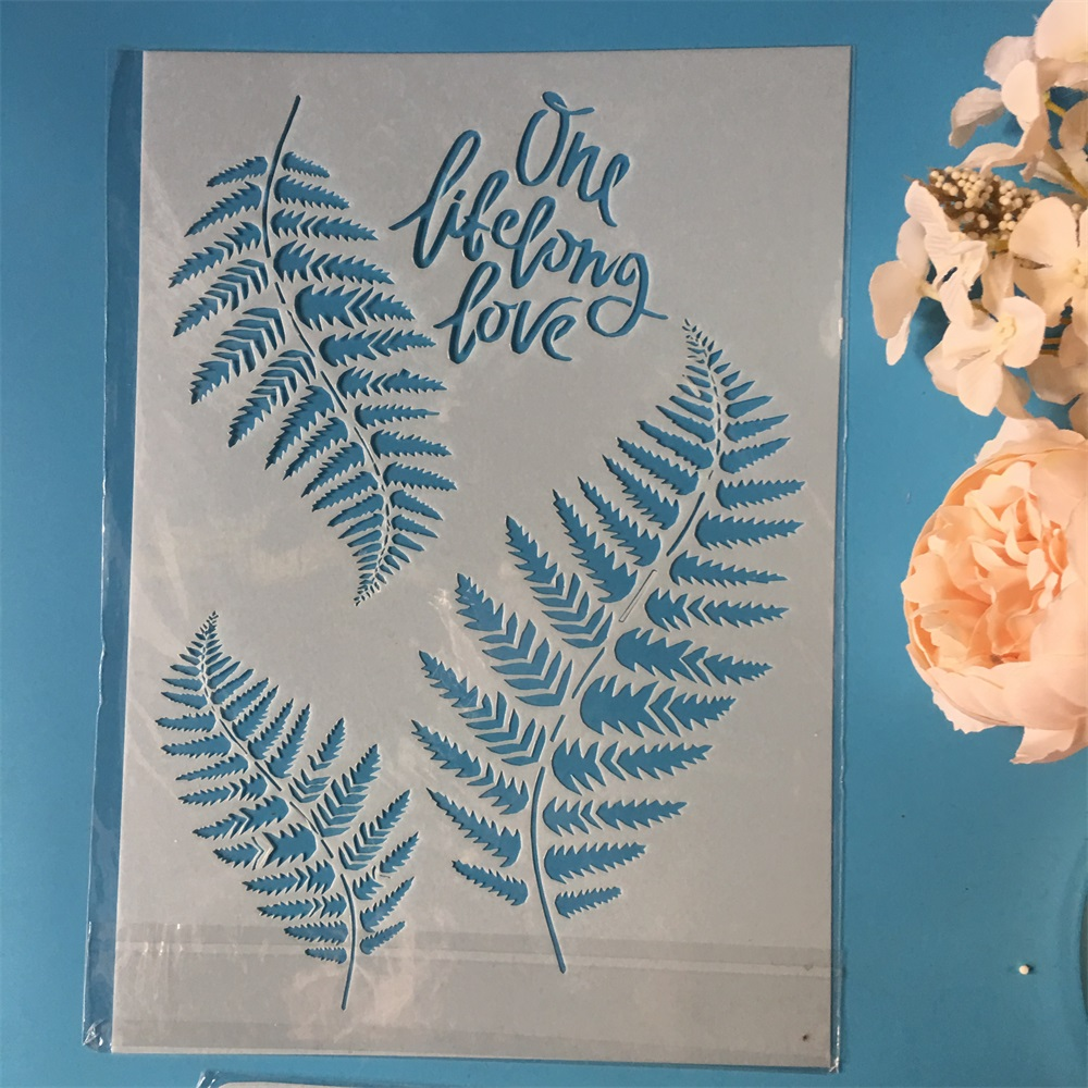Us 1 68 28 Off New Leaves A4 Diy Craft Layering Stencils Wall Painting Scrapbooking Stamping Embossing Album Decorative Paper Card Template In