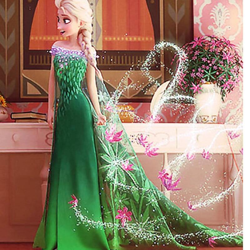 2016 Nuovo Elsa / Anna Principessa estate vestito da stile Fancy - Vestiti per bambini