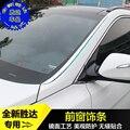 Для Hyundai Santa Fe IX45 2013-2017 Высококачественная накладка из нержавеющей стали на лобовое стекло автомобиля-Стайлинг автомобильные чехлы