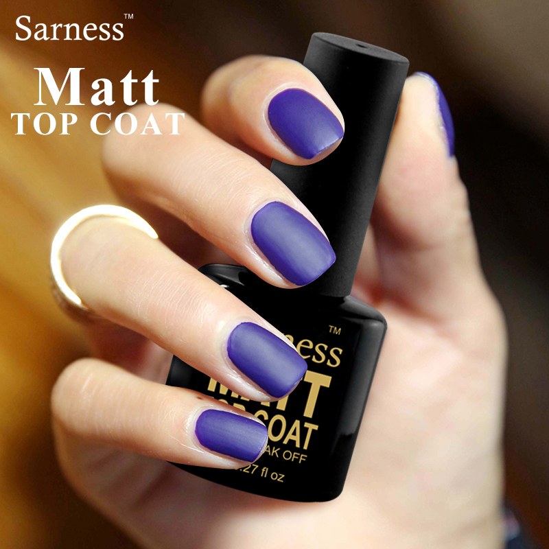 Best Gel Nails Set: Sarness Hot Sale 8ml UV Gel Nail Polish Set Matt Top Coat