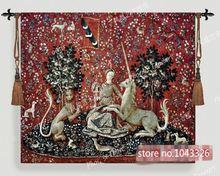 138*103 см Бельгия средневековая мечта Женская и единорог серия