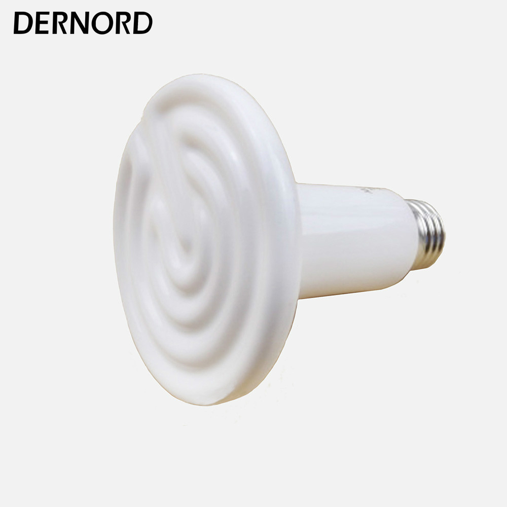 DERNORD 110V 150W Ceramic IR Heat Emitter Bulb Reptile Infrared Heater For Turtle Snake Lizard Chick 220v 95x110mm 50 250w pet ceramic emitter heated plate appliance reptile poultry heating breeding light bulb for e27 lamp holder