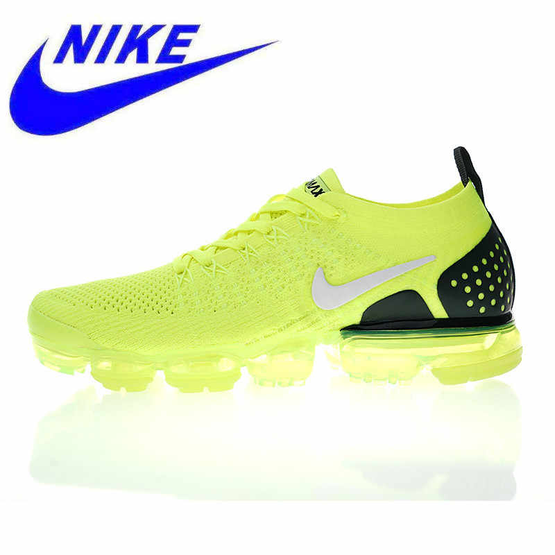 best service a4d74 ac6f5 Original Nike Air VaporMax Flyknit 2.0 W Men s and Women s Running Shoes,  Green, Shock