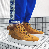 2019 Newest Skateboard Shoe Men Breathable Sport Shoes Outdoor Vogue Army Green Men's Sneakers High Top Zapatillas Hombre