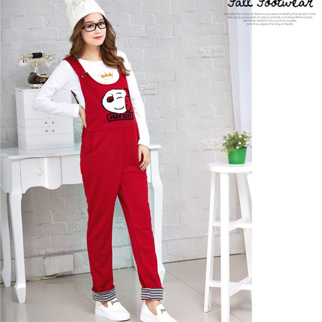 Clothes for Pregnant Pants Maternity Overalls Cartoon zipper Cotton Plus Size Trouser Pants for pregnant Women Maternity Clothes