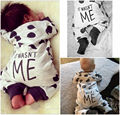 Bebé recién nacido Niños Niñas Algodón Playsuit Trajes Pijama Mameluco Del Bebé Del Mameluco 0-24 M