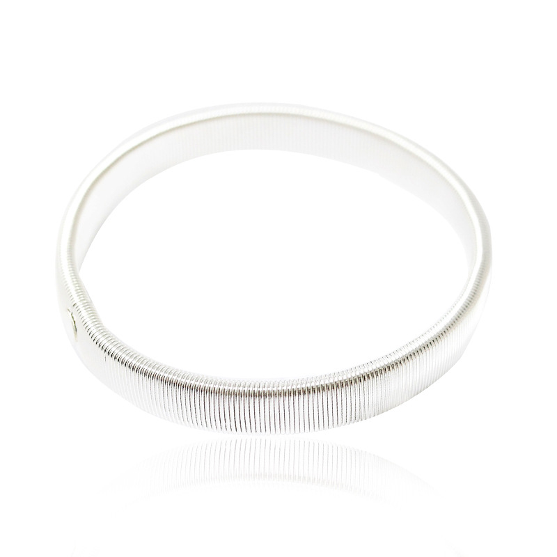 wholesale Korean fashion single round frosted Silver color bracelet women dropshipping gifts