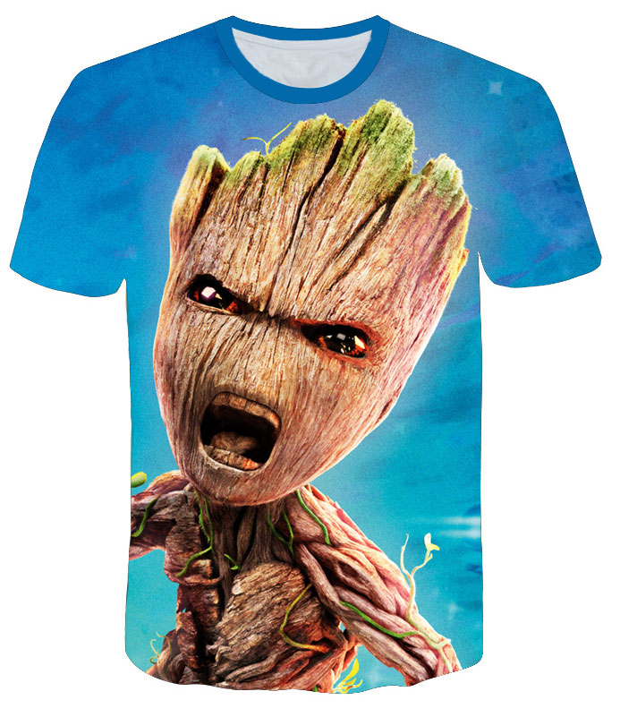 Groot T Shirts Tees Men Unisex X planet monarch Bounty Hunter Superhero Movie guardians of the galaxy funny Novelty 3d t-shirt