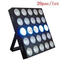 20pcs/lot Tri led matrix 5x5 25x10w RGB 3 IN 1 led beam matrix blinder stage light
