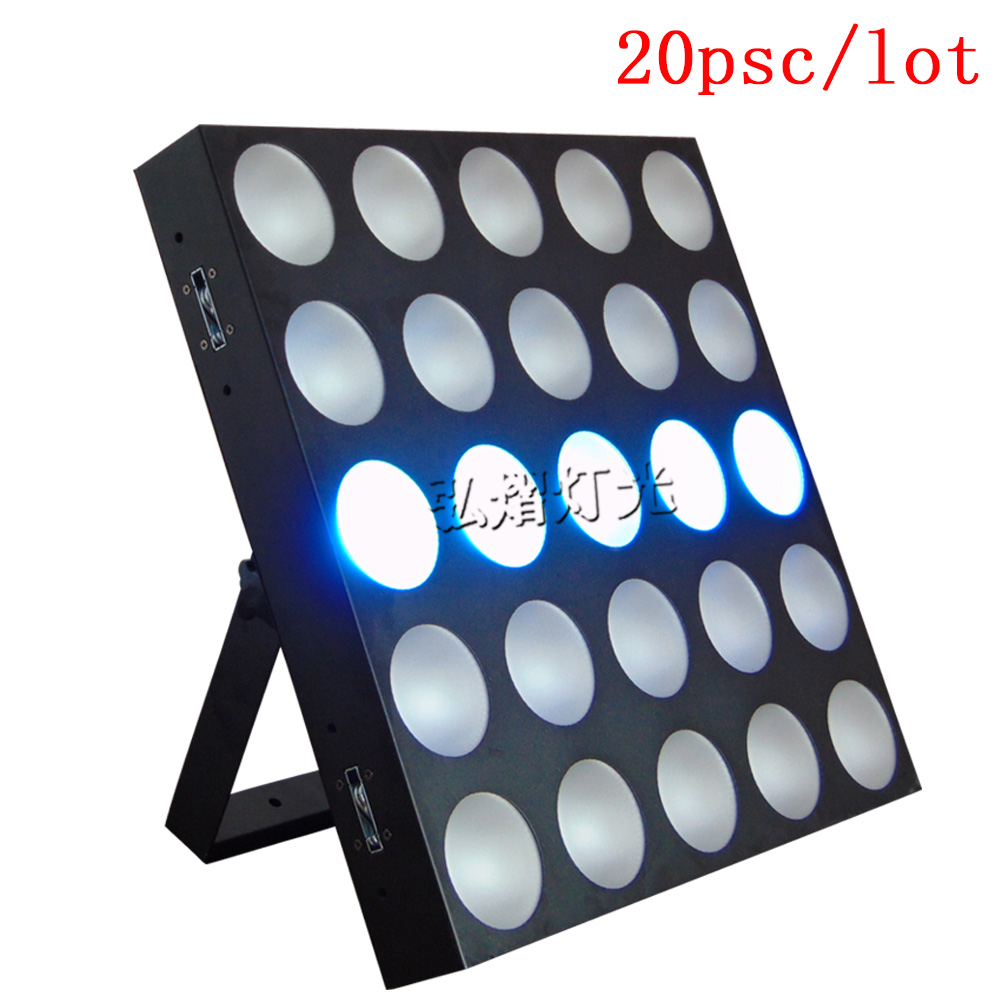 20pcs/lot Tri led matrix 5x5 25x10w RGB 3 IN 1 led beam matrix blinder stage light