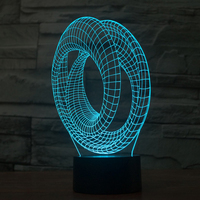 Unique Study Room Decor Abstract Art Visual Led Table Lamp USB Operated Curve Modern Desk Lighting