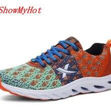 ShowMyHot/высококачественные мужские туфли на шнурках на каждый день; Новые Летние Стильные туфли на плоской подошве; Воздухопроницаемая сетчатая Уличная обувь для влюбленных