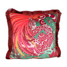 Luxury Fashion Thicken Velvet Tassel Cushion Cover Printed Pillow Cover Pillowcase Home Decorative Sofa  couch pillows цены