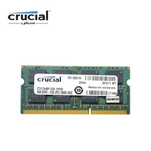 Memória crucial do portátil de 4 gb ddr3 1333 mhz (PC3-10600) 8g = 2 pces x 4g 1.35 v cl9 204 pinos ram(China)