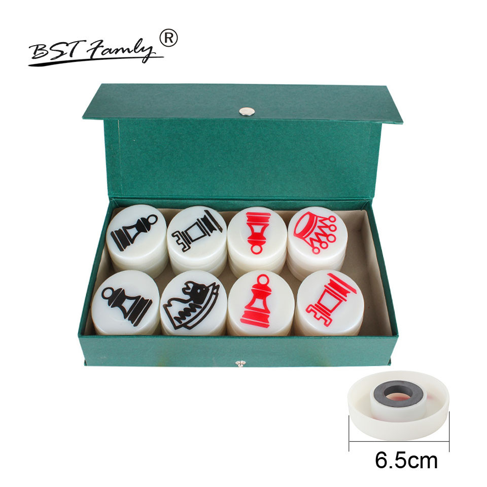 BSTFAMLY Chess Set Plastic Magnetic Chess Pieces Chess Game Teaching Chessman Diameter 65mm International Chess IA7 все цены