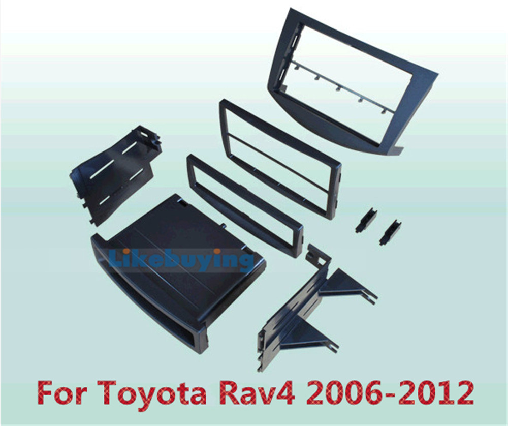 2 Din Car Frame Dash Kit / Car Fascias / Mount Bracket Panel For Toyota RAV4 2006 2007 2008 2009 2010 2011 2012