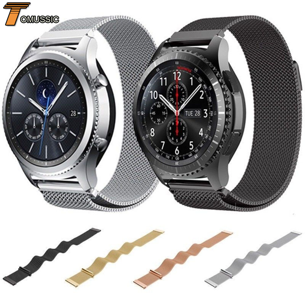 Mesh Milanese Loop Watch Band For Samsung Gear S3 Frontier Classic Stainless Steel Magnetic Closure Strap For Galaxy Watch 46mmMesh Milanese Loop Watch Band For Samsung Gear S3 Frontier Classic Stainless Steel Magnetic Closure Strap For Galaxy Watch 46mm