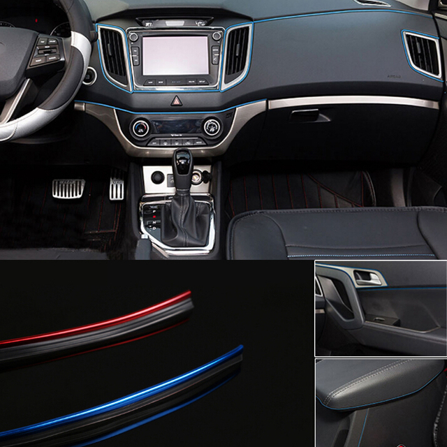 5M AUTO ACCESSORIES Universal CAR Interior Flexible Decoration ...