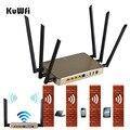 1200 Mbps de Alta Potencia Multi Function11AC Dual Band Wireless Router WiFi Repetidor AP de Alta Ganancia y Whloe Cubierta de trabajo 128 los usuarios