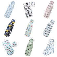 2 Pcs/set Newborn Baby Sleeping Bag Hat Set Fashion Printed Color Cute Infant Child Anti-kick Swaddle Wrap Hats Photography Prop