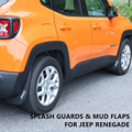 Traseira frente & mud flaps lamas do respingo guardas fender para 2015-2016 jeep renegado