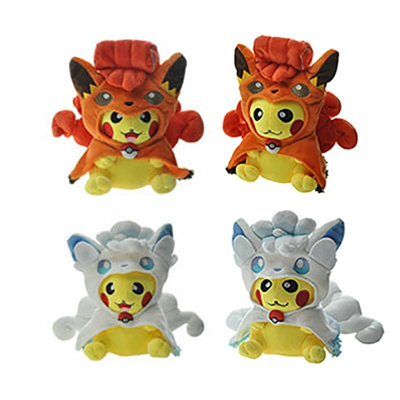 4 Kinds Ice Vulpix Cosplay Pikachu Animal Dolls, 20 CM Cartoon Plush Toy,Children Soft PP Cotton Kids As Birthday Christmas Gift mymei fashion cartoon giraffe dear soft plush toy animal dolls baby kids birthday gift