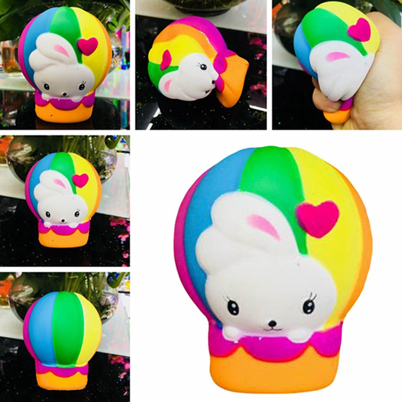 2018 Popular Among Children Hot Air Balloon Rabbit Slow Rebound Squeeze Rabbit Funny Toy