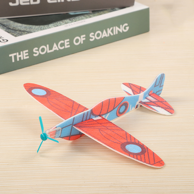 Factory Direct Hand Throwing Gliding Small Plane DIY Puzzle Small Production Toy Assembly RC Outdoor Toys.1 Random Delivery