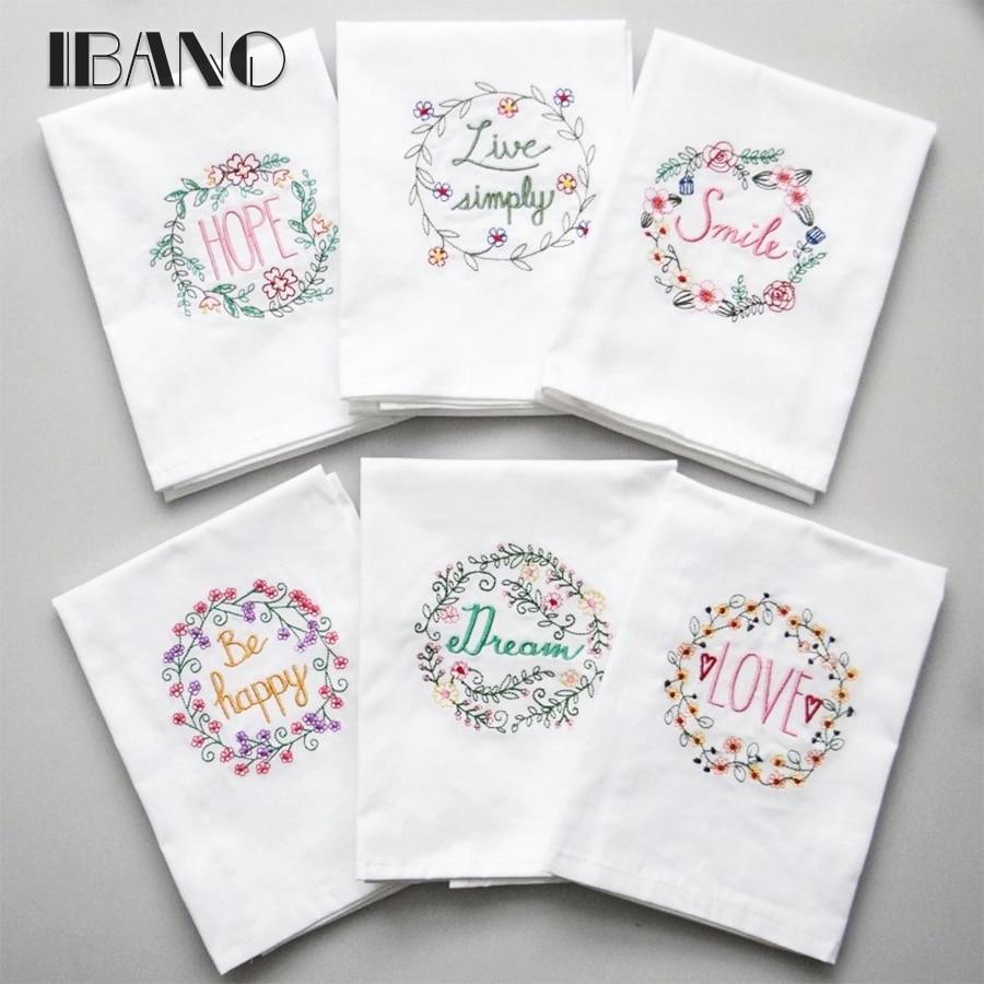 2pcs/lot Cotton Dishtowel Kitchen Towel Dish Towel Cleaning Cloth Tea Towel Embroidered 45x70cm Table <font><b>Napkin</b></font>