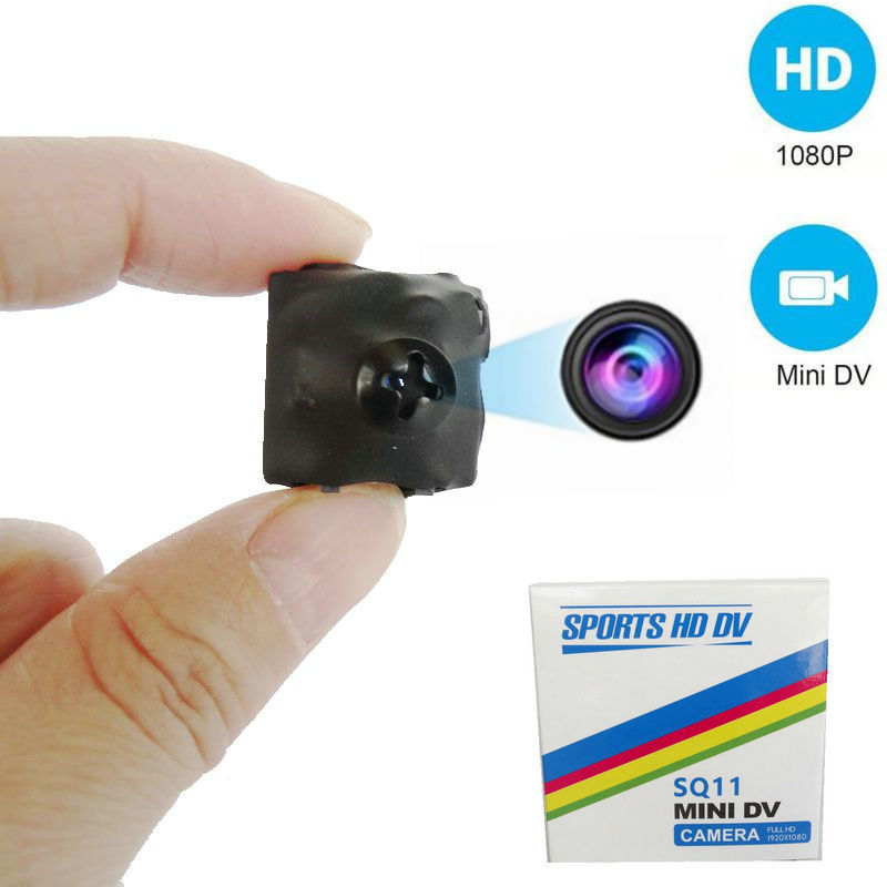 32GB Card+SQ11 Tiny DV Camera 1080P HD Video Recorder Mini Screw CAM DVR Camcorder