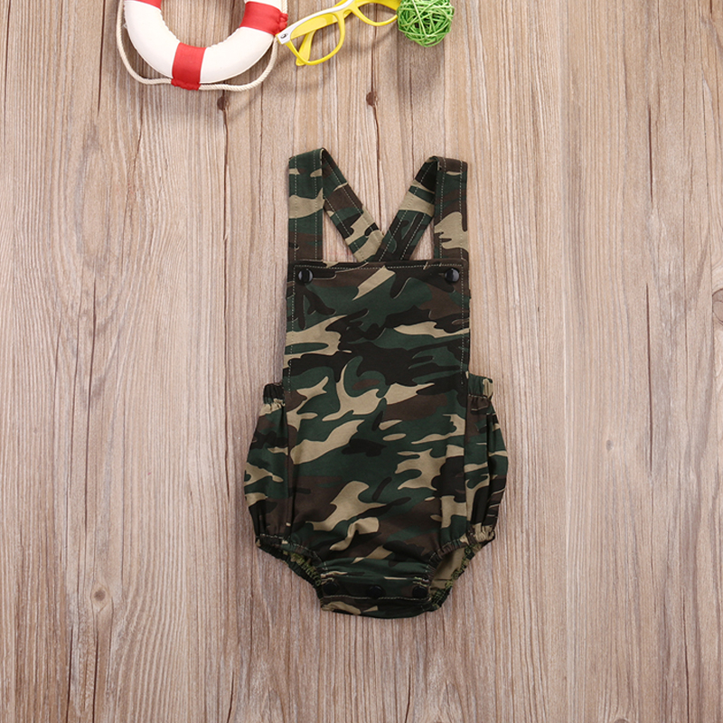 Baby Camouflage   rompers   Infant girls boys clothes 2017 Summer Newborn baby Jumpsuit Toddle one-pieces outfits