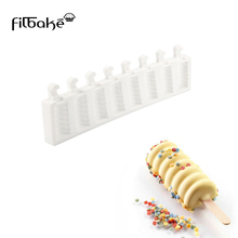 FILBAKE Hot Style High Quality 8 With Striped Ice Cream Mold New Styling DIY Chocolate Molds Cube Of Cake Be