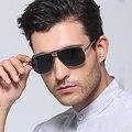 Más nuevo 2016 Del capítulo Del Metal Gafas Polarizadas conductor gafas de Sol Hombre Famoso diseñador de la marca Square Gafas de Sol de espejo oculos UV400 CALIENTE