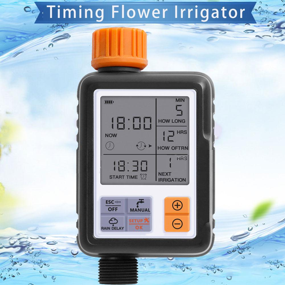 Europe Universal LCD Screen Sprinkler Controller Outdoor Garden Solenoid Valve Timer Automatic Watering Device Irrigation Tool(China)