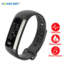 Smart Fitness Bracelet Watch with blood pressure + heart rate monitor + Blood oxygen and more for iOS and Android