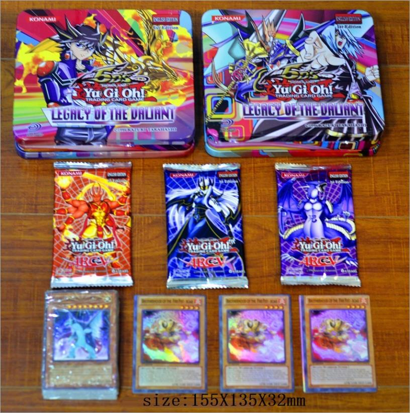 71pcs/set Yu Gi Oh Game Cards Classic YuGiOh Game English Cards Carton Collection Cards With Flash Card And Metal Box Toys