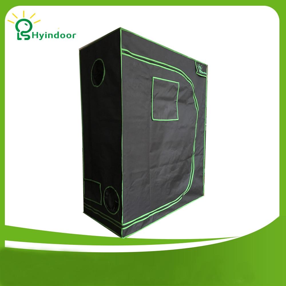 Hyindoor 120*60*150 (48*24*60 '') indoor Hidroponia Crescer Tenda Estufa Mylar Reflexivo Não Tóxico Quarto Solares Invernadero