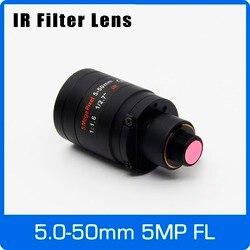 5 Megapiksel Varifocal M12 Mount Lensa dengan Filter IR 5-50 Mm 1/2. 7 Inch Manual Fokus dan ZOOM untuk Aksi Kamera Jarak Jauh Lihat