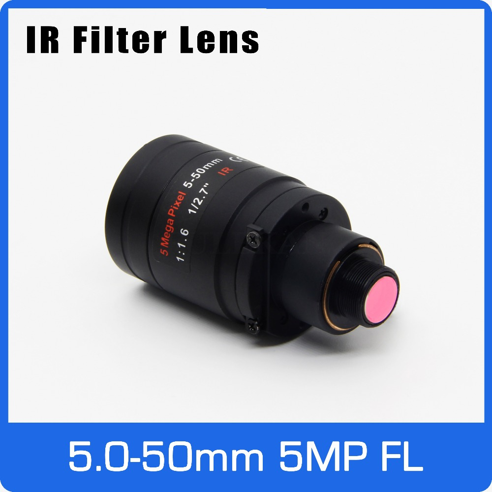 5Megapixel Varifocal  M12 Mount Lens With IR Filter 5-50mm 1/2.7 Inch Manual Focus And Zoom For Action Camera Long Distance View