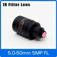 5Megapixel Varifocale M12 Mount Lens Con Filtro IR 5 50mm 1/2.7 pollici Manuale Messa A Fuoco e Zoom Per La Macchina Fotografica di Azione A Lunga Distanza Vista