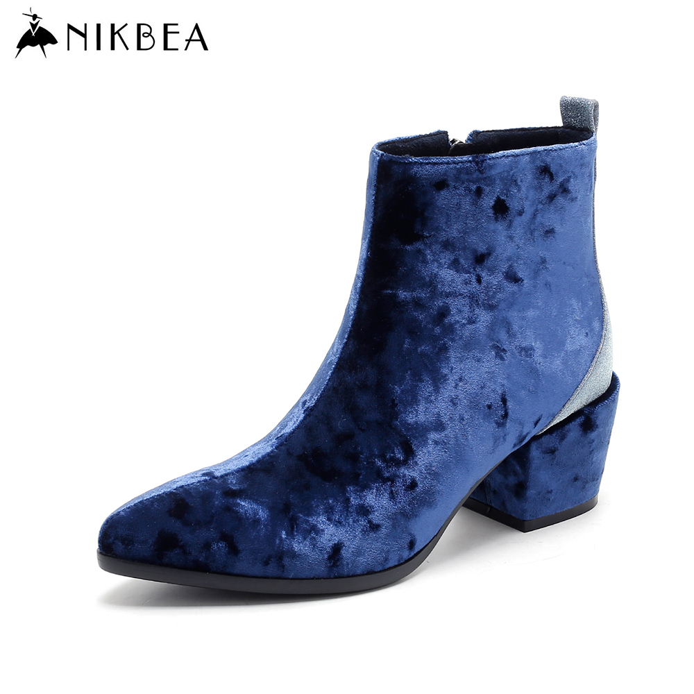 aliexpress buy nikbea fashion ankle boots pointed