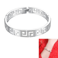 Luxury Sterling Silver Bangle Fit Hollowed Bracelet Charm Bangle Jewelry For Women Girls 88 M23