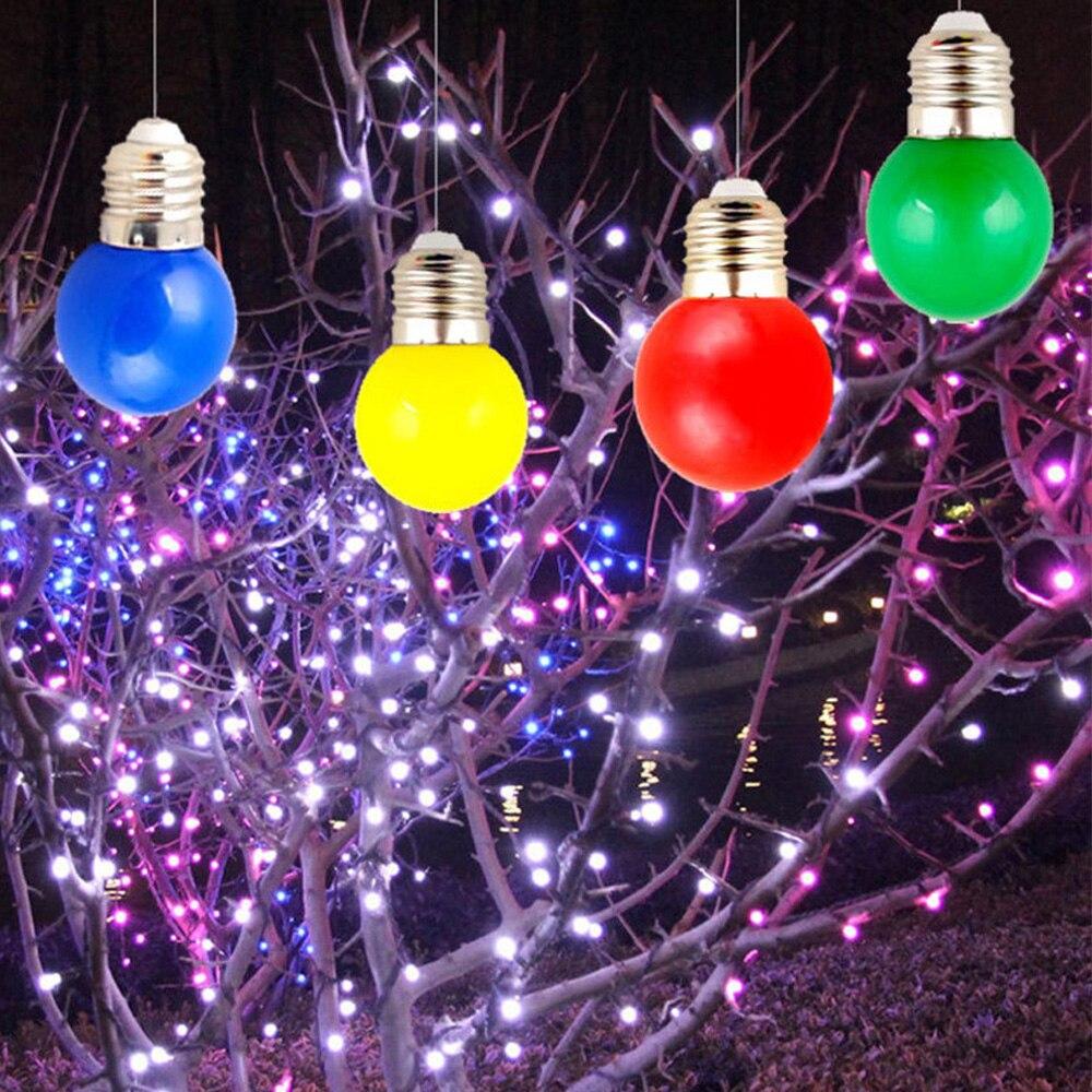 3 Вт E27 220 В цветная круглая лампа светодиодная лампа 7 цветов лампа SMD 2835 домашний декор Освещение