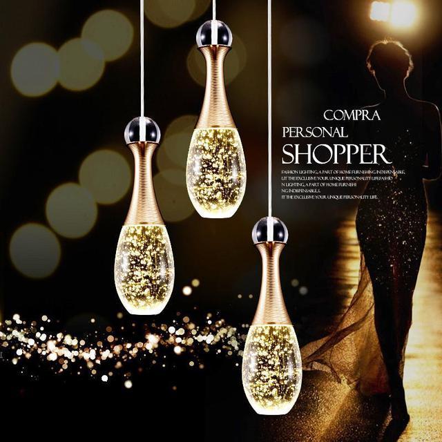 industrial vintage pendant light original designer crystal lamp shade e27 pendant lamp holder loft bar lamps
