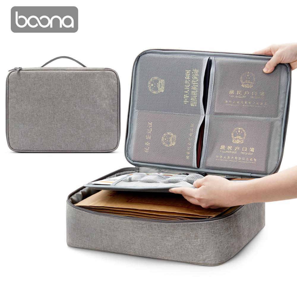 Boona Oxford Waterproof Document Bag Organizer Papers Storage Pouch Credential Bag Diploma Storage File Pocket with Separator-in File Folder from Office & School Supplies