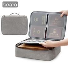 Boona オックスフォード防水ドキュメントバッグオーガナイザー論文収納ポーチ資格バッグ卒業証書収納ファイルポケットセパレーター